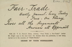 Advert For 'Fair Trade', Periodical